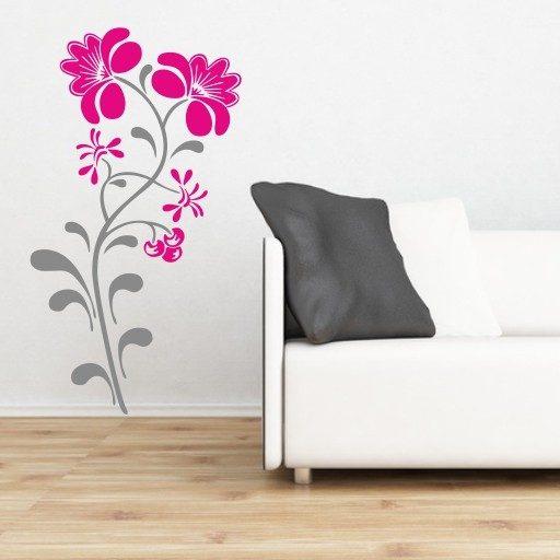 Wandtattoo Blume 2-farbig