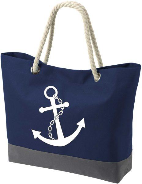 Shopper Bag Einkaufstasche Maritim Nautical Anker