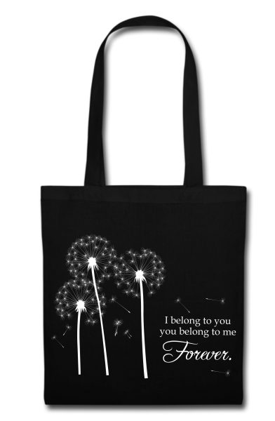 Stofftasche schwarz I belong to you