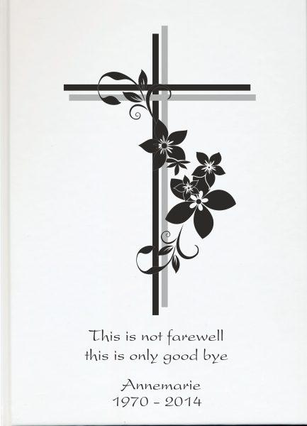 Fotoalbum Erinnerungsbuch Kreuz mit Blumen
