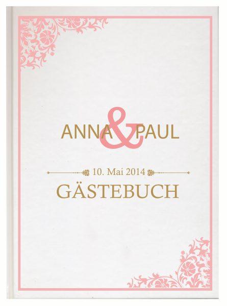 Personalisiertes Gästebuch für Ihre Hochzeit (Motiv 14)