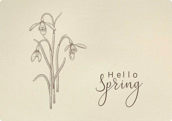 Tischset mit Schneeglöckchen Hello Spring