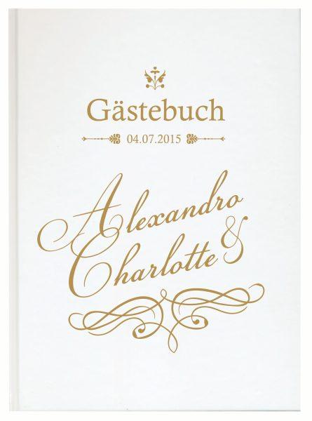 Personalisiertes Gästebuch für Ihre Hochzeit (Motiv 23)