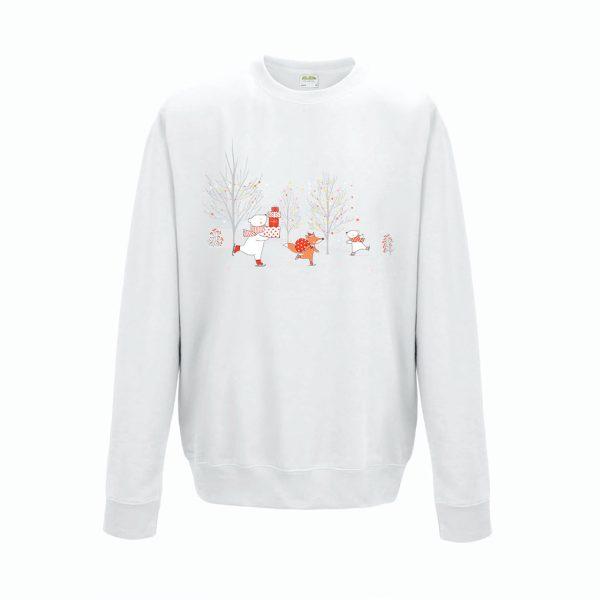 Sweatshirt Shirt Pullover Pulli Unisex Weihnachten Winter Landschaft