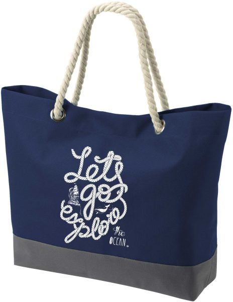 Shopper Bag Einkaufstasche Maritim Nautical Let's Go Explore the Ocean