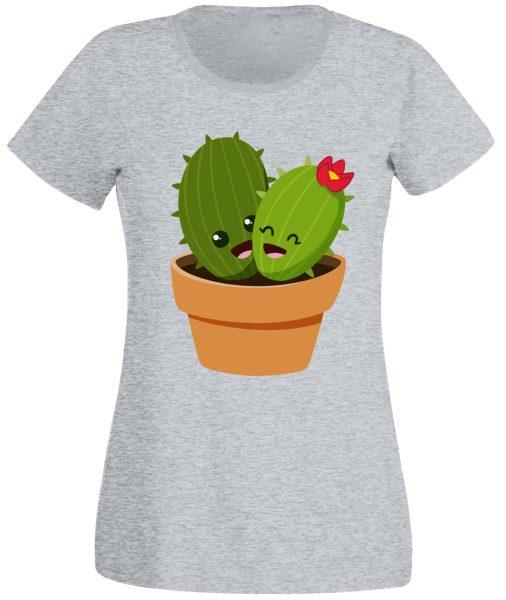 Damen T-Shirt Kaktuspärchen