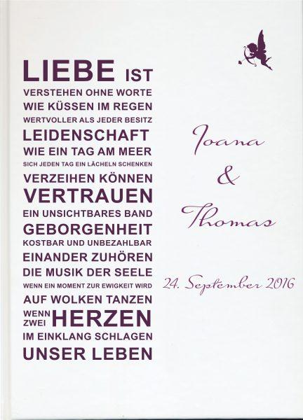 Personalisiertes Gästebuch für Ihre Hochzeit (Motiv 58)