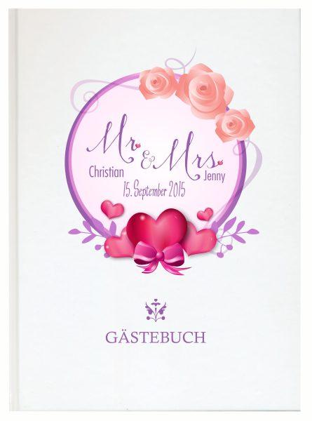Personalisiertes Gästebuch für Ihre Hochzeit (Motiv 24)