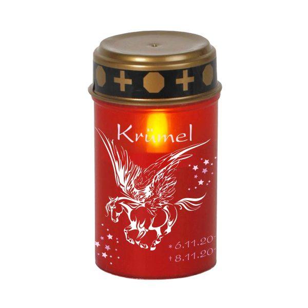 LED Grablicht Kerze Klein Sternenkind Pegasus