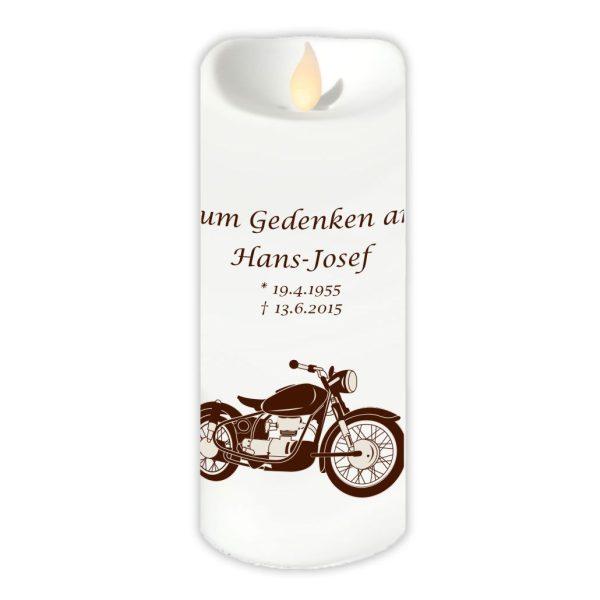 LED Kerze Twinkle Trauerkerze Motorrad