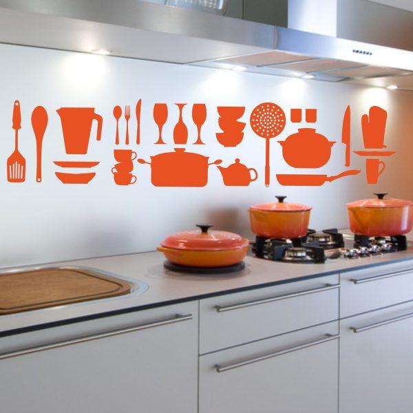 Wandtattoo Küchenelemente