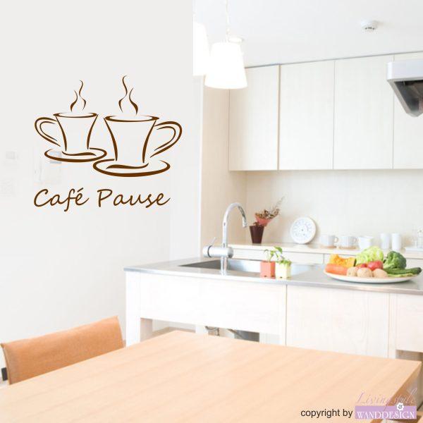 Wandtattoo Café Pause