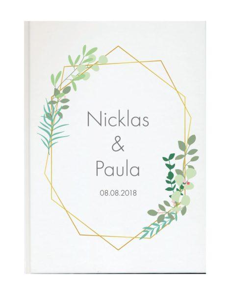 Personalisiertes Gästebuch für Ihre Hochzeit (Motiv 63)