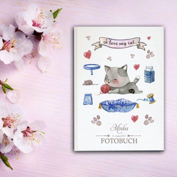 Fotoalbum für Tiere Katze liegend