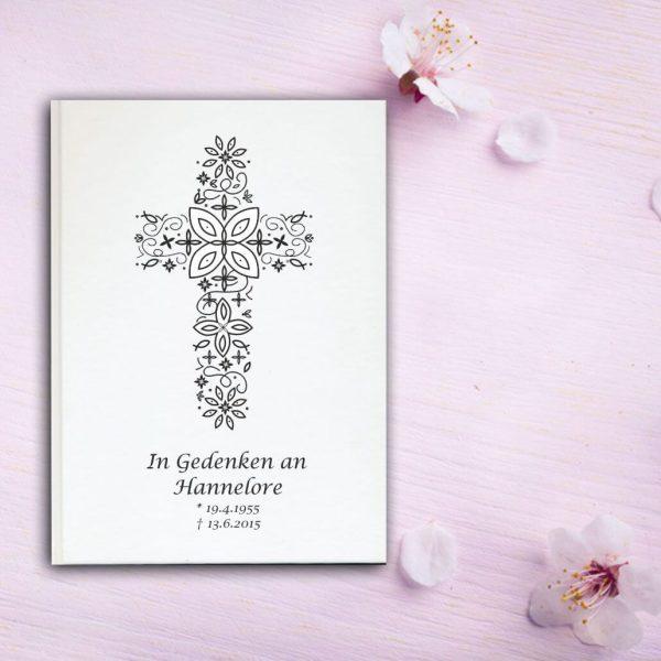 Fotoalbum Erinnerungsbuch Kreuz aus Ornamenten