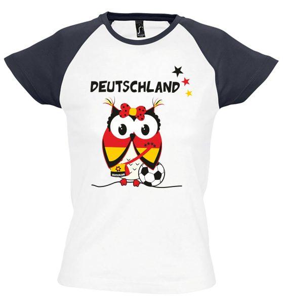 Damen T-Shirt WM 2018 Motiv 6 Deutschlandeule