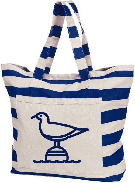 Streifen Shopper Baumwolle Beach Bag Maritim Möwe