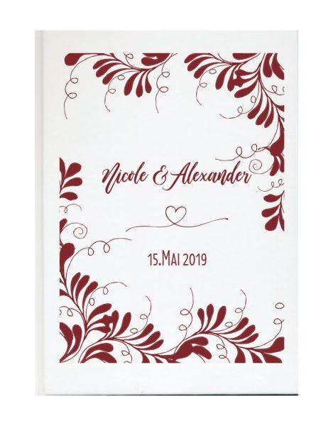 Personalisiertes Gästebuch für Ihre Hochzeit (Motiv 20)