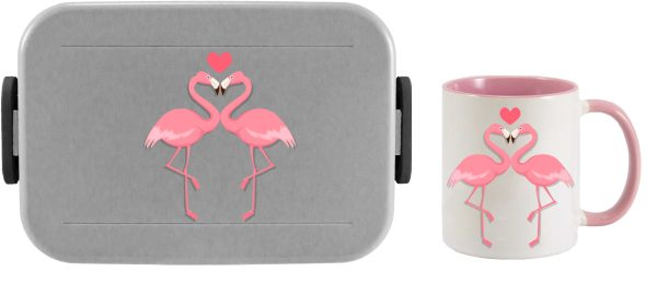 Bento Brotdose Take A Break Large - Tasse - Flamingo