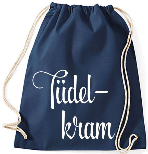 Jutebeutel Turnbeutel Sportbeutel navy Tüdelkram