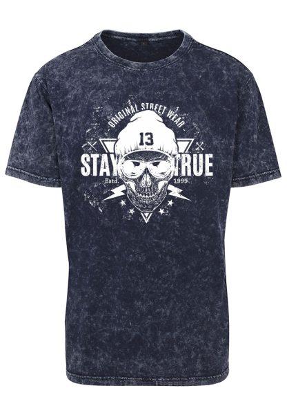 Herren Acid Washed T-Shirt Stay True