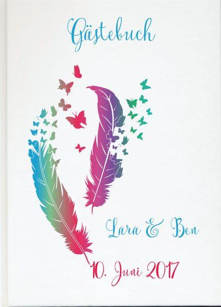 Personalisiertes Gästebuch für Ihre Hochzeit (Motiv 53)