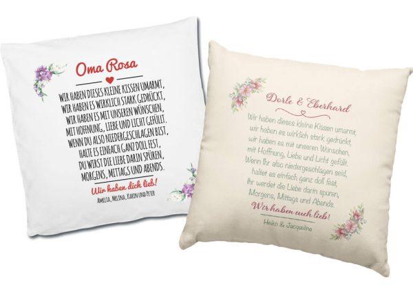 Dekokissen Kissen inkl. Füllung mit Hoffnung, Liebe und Licht gefüllt
