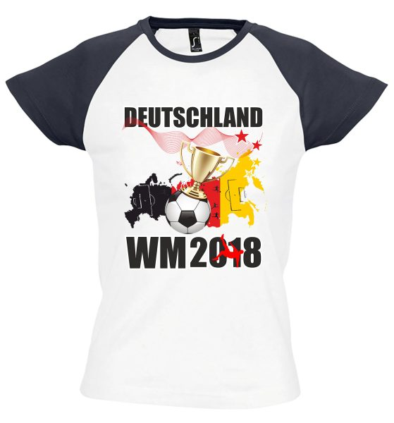 Damen T-Shirt WM 2018 Motiv 17 Pokal
