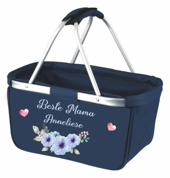 Einkaufskorb Korb navy Beste Mama