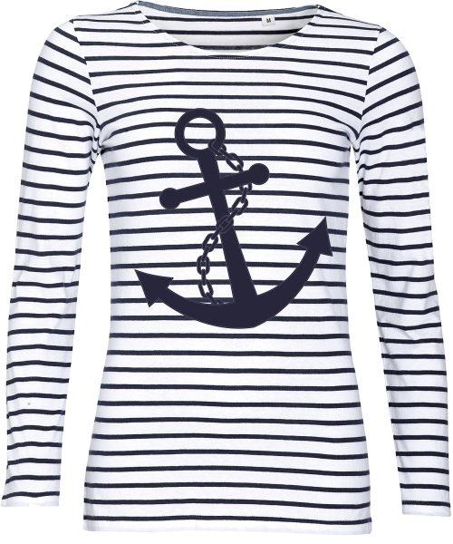 Damenshirt Streifen Maritim