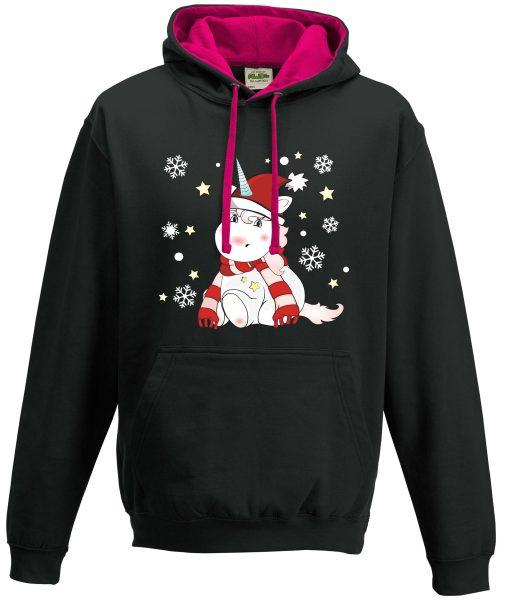 Kapuzenpullover Pullover Hoodie Winter Weihnachten Einhorn cutie xmas