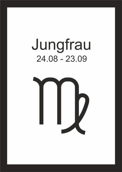 Kunstdruck Sternzeichen Jungfrau