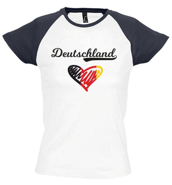 Damen T-Shirt WM 2018 Motiv 10 Herz