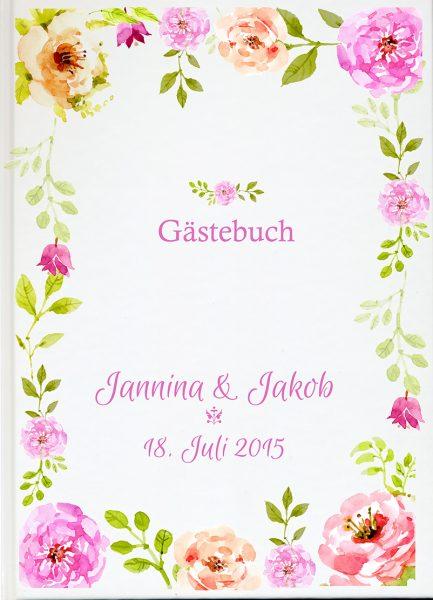 Personalisiertes Gästebuch für Ihre Hochzeit (Motiv 34)