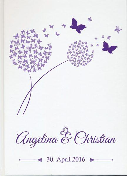 Personalisiertes Gästebuch für Ihre Hochzeit (Motiv 50)
