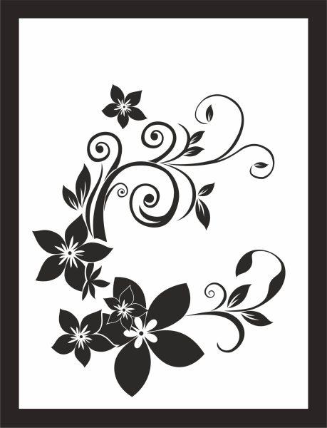 Kunstdruck Blumen Ranke