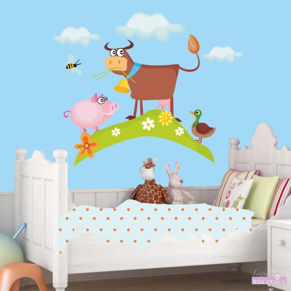 Wandtattoo Kuh Anton und seine Freunde