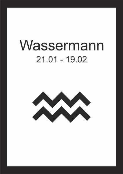 Kunstdruck Sternzeichen Wassermann