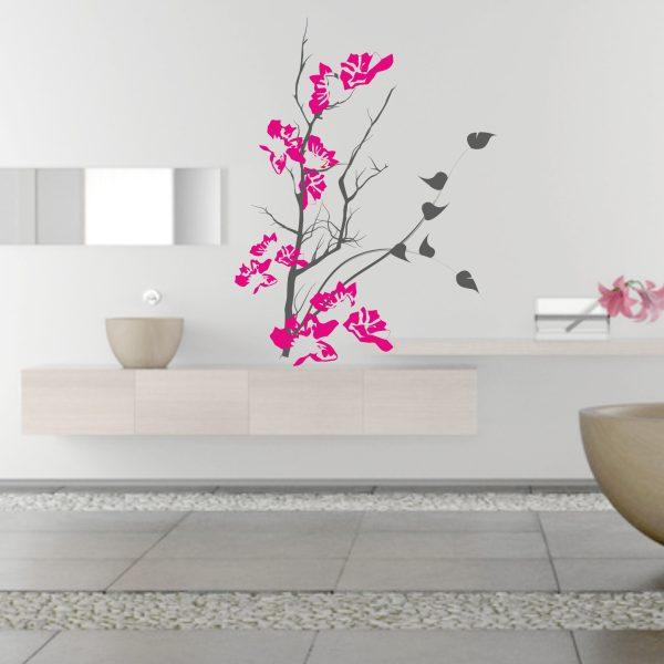 Wandtattoo Japanischer Zweig 2-farbig