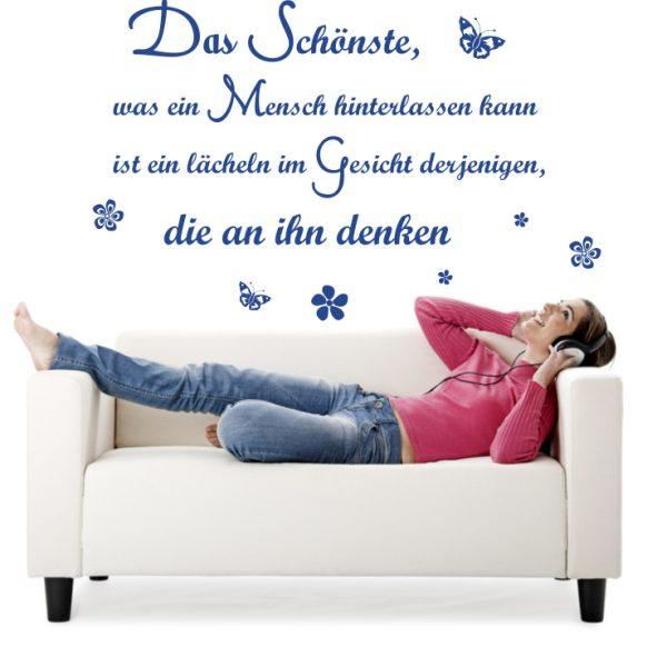 """Wandtattoo Spruch """"Das Schönste"""""""