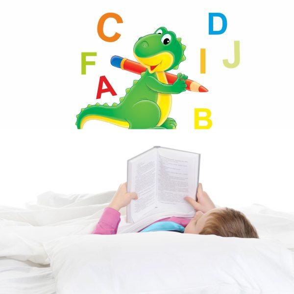 Wandtattoo Süßer Drache mit ABC