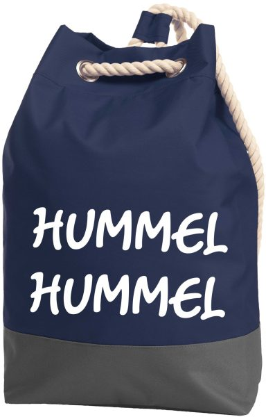 Rucksack Seesack Beutel mit Kordel Maritim Hummel Hummel