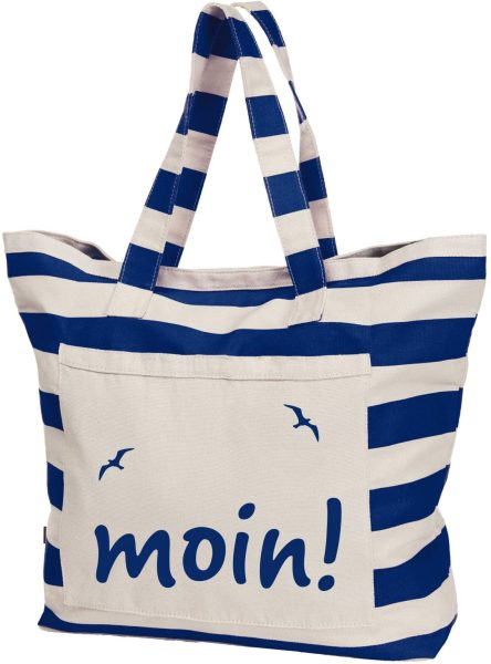 Streifen-Strandtasche Shopper maritim Moin