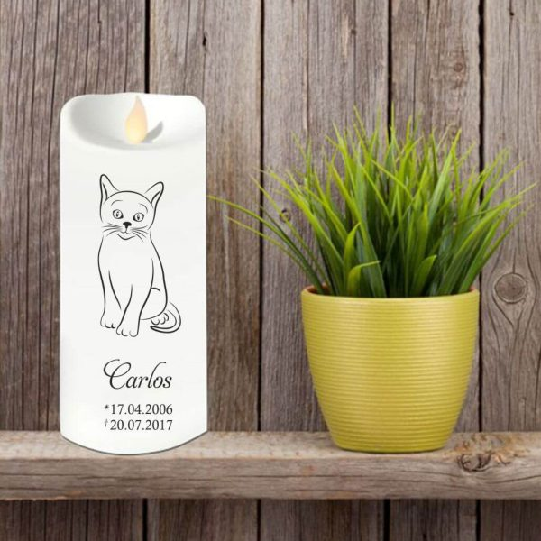 LED Kerze Twinkle für Tiere Katze Silhouette