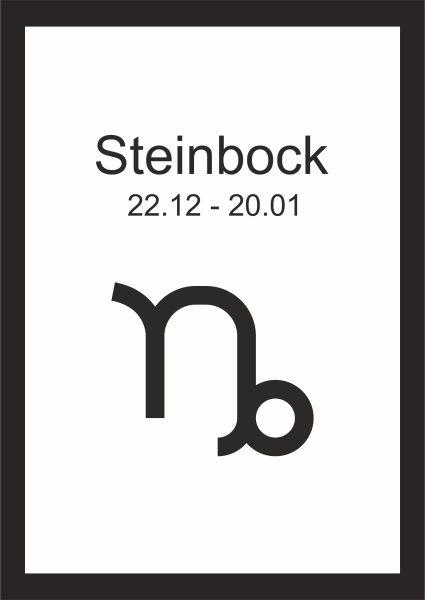 Kunstdruck Sternzeichen Steinbock