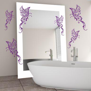 Wandtattoo 6 Schmetterlinge Fantasie