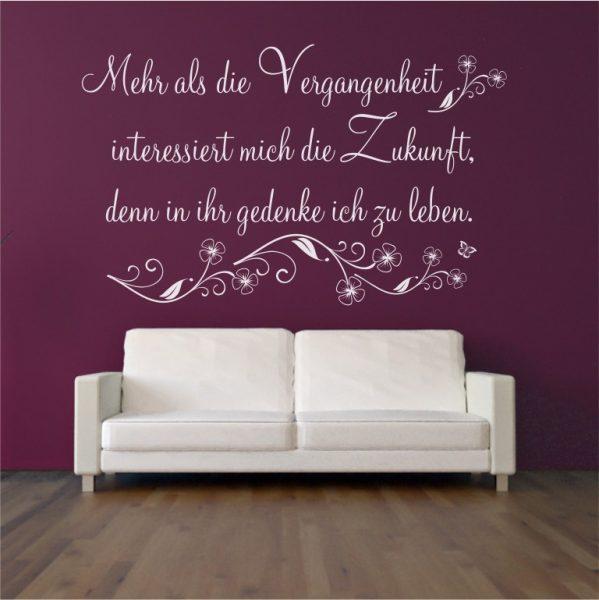 """Wandtattoo Spruch """"Vergangenheit"""""""