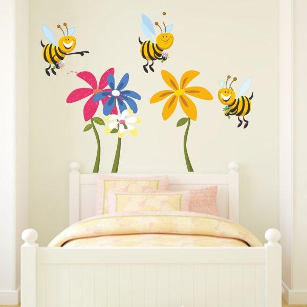 Wandtattoo Lustiges Bienen Tattoo