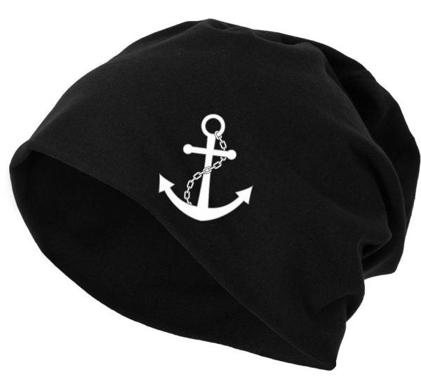 Jersey Beanie Mütze Wintermütze Anchor Anker