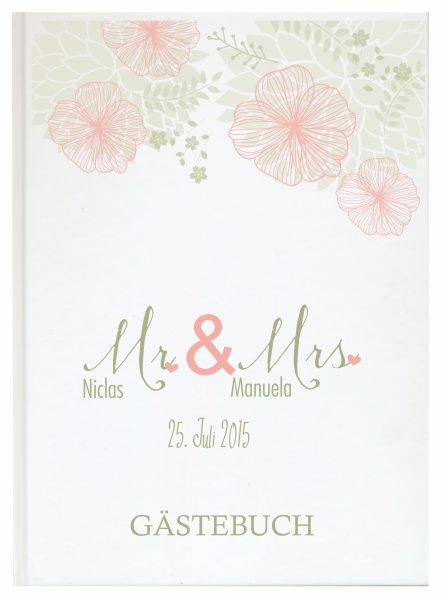 Personalisiertes Gästebuch für Ihre Hochzeit (Motiv 22)